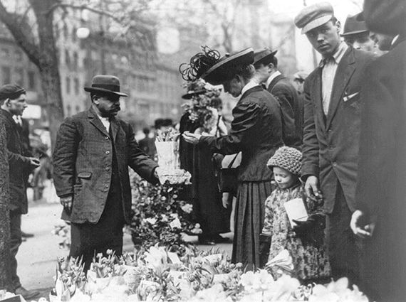 1908 flowers at union square new york city vintage for Flowers union square nyc