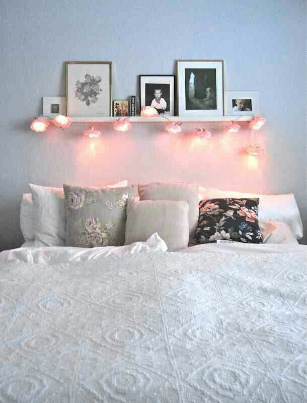 Cute simple bedroom with a touch of floral