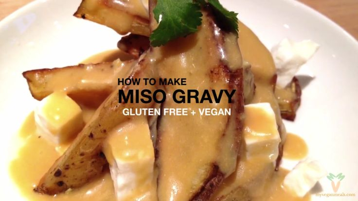 #Vegan and #Glutenfree Miso Gravy. It's rich texture and ever so satisfying flavour is absolutely #delicious on #vegetables, as a dip, on top of grains, in burgers, in sandwiches, it can be enjoyed with any type of dish!  Vegetable broth, water, tamari soy sauce, sesame oil, coconut oil, apple cider vinegar, rice vinegar, garlic, brown rice syrup, ginger, brown rice flour, nutritional yeast, brown rice #miso paste. Visit our blog for the full recipe!