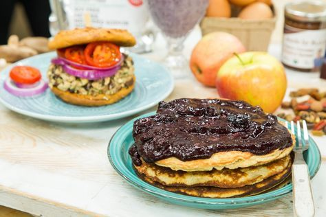 Fluffy and full of protein! Celebrity Chef Rocco DiSpirito's Protein Pancakes! For more great recipes tune in to Home & family weekdays at 10a/9c on Hallmark Channel!