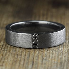 Venda de boda de diamante negro para hombre por PointNoPointStudio