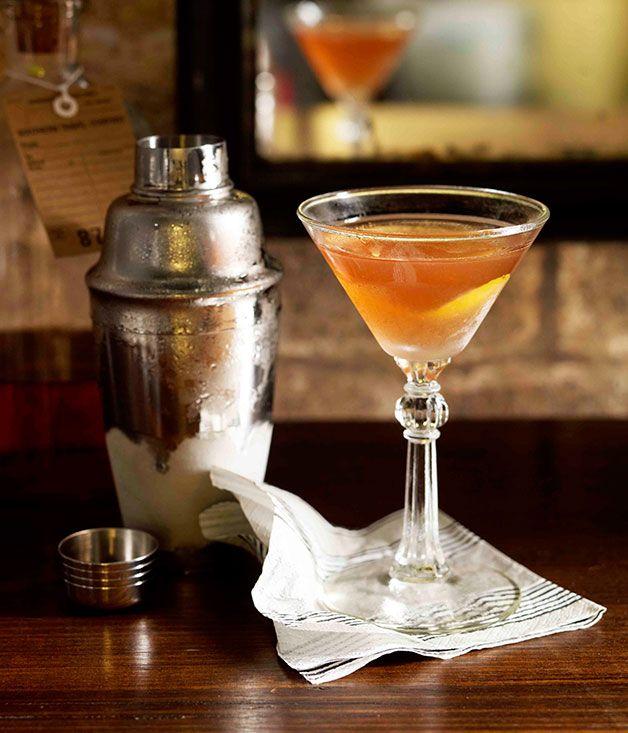 The Scofflaw - 1.5 ounce rye, 1/2 ounce dolin blanc, 1/2 ounce dolin ...