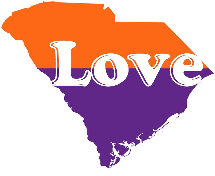 South carolina orange and purple vinyl decalssouth