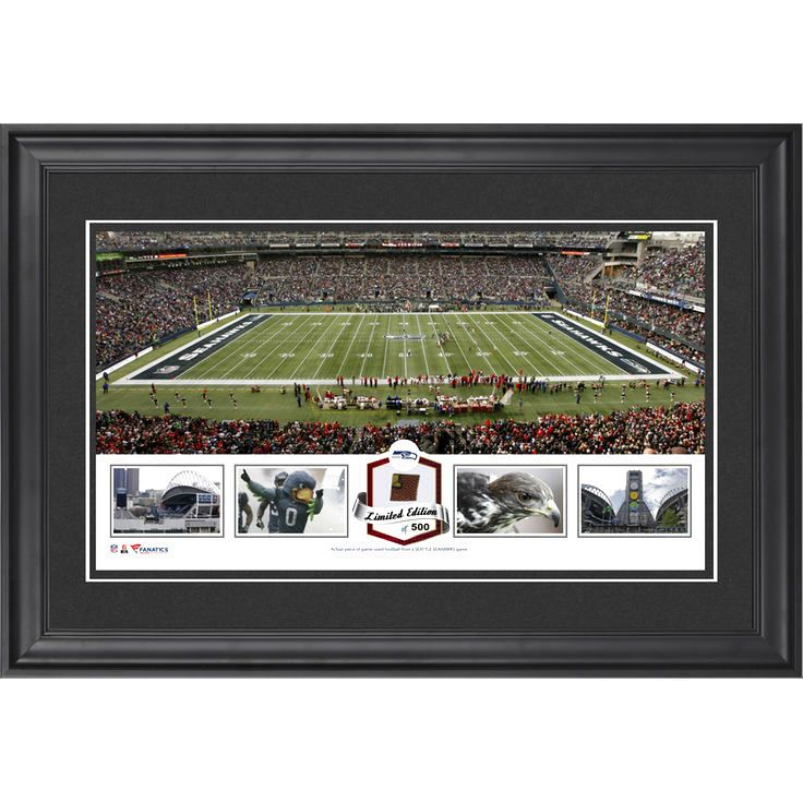 Seattle Seahawks Fanatics Authentic Framed CenturyLink Field Panoramic Collage with Game-Used Football-Limited Edition of 500 - $79.99