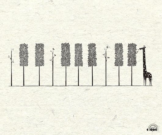 piano keys, giraffe, trees, tattoo? << said the other pinner person. I just think this is cute :)