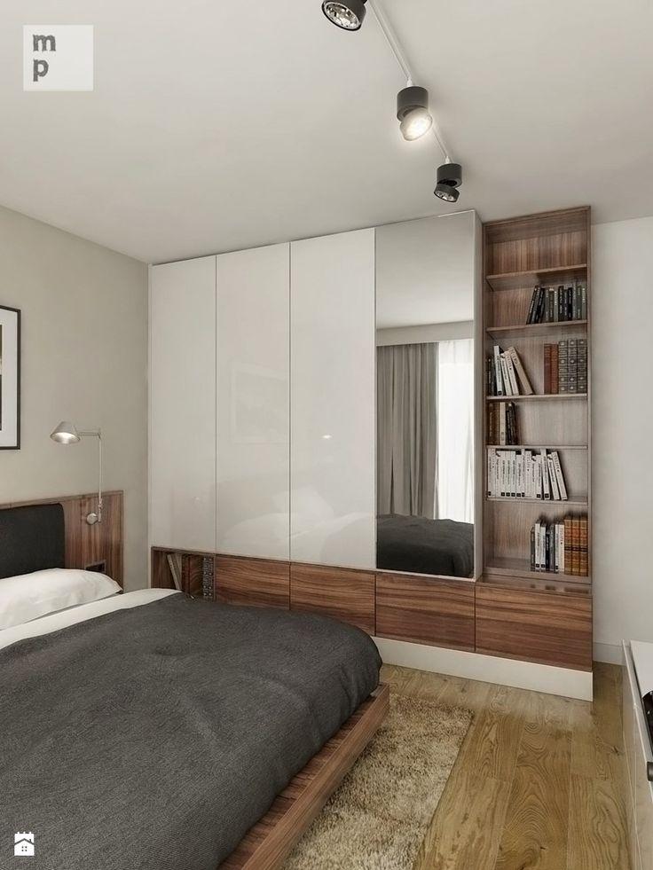 INTERIOR   Mieszkanie - Warszawa - Średnia sypialnia małżeńska, styl nowoczesny - zdjęcie od Manufaktura Projektów