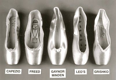 Great photo of pointe shoes!