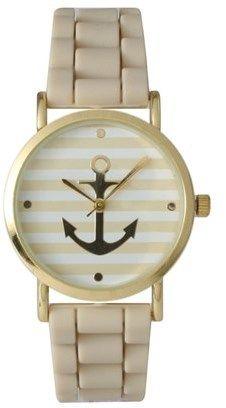 Olivia Pratt Striped Anchor Watch.