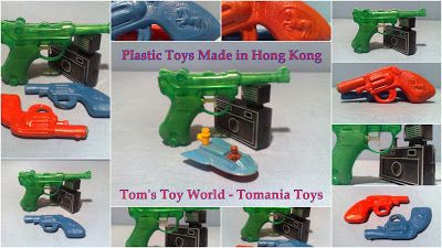 Plastic Toys - Made in Hong Kong Toy Revolver - Water Guns - Luger Pistol