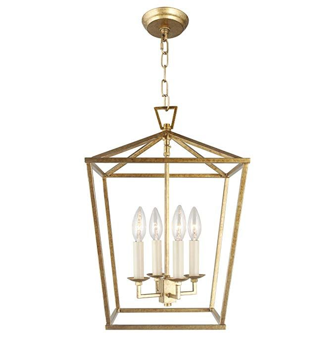 Cage Pendant Light Lantern Iron Art Design 4 Heads Candle Style Chandelier Ceiling Light Cage Pendant Light Mini Lantern Pendant Light Lantern Pendant Lighting