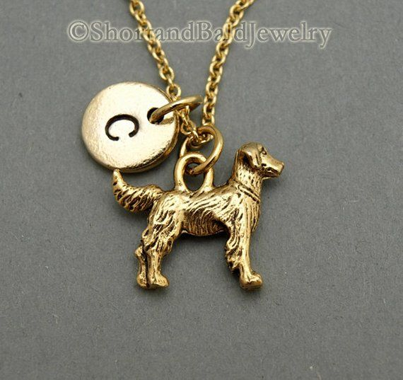 Golden Retriever Charm Necklace Golden Retriever Dog Charm