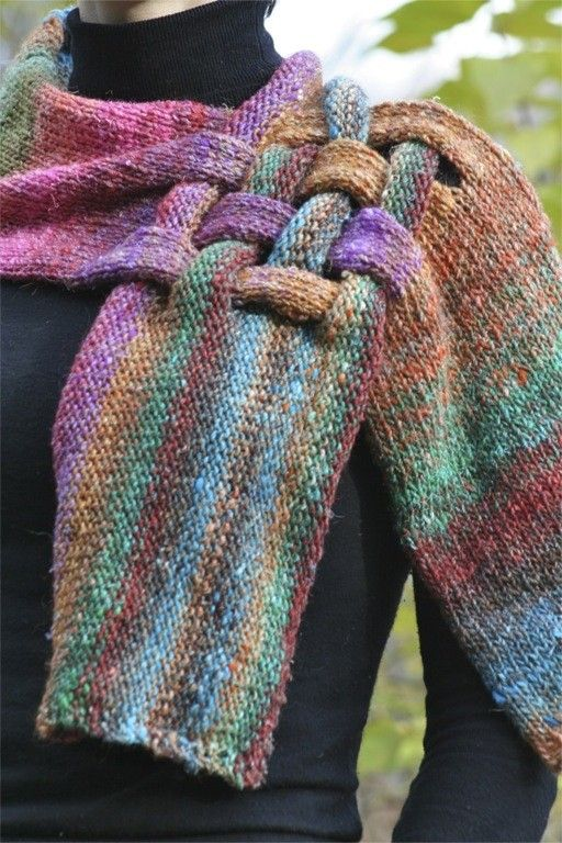 Intertwined Wool Scarf