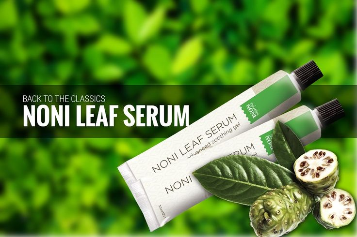 The noni leaf is the secret to soothing distressed skin