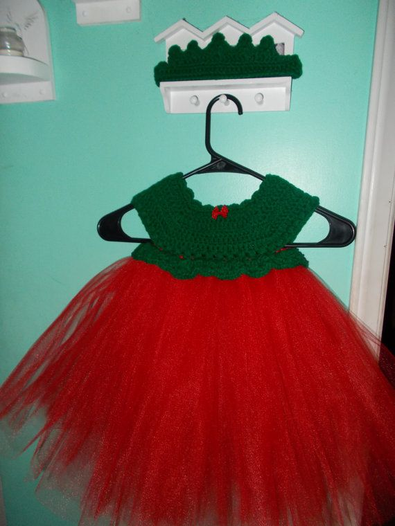 Christmas tutu dress 12-18 months red and green baby toddler
