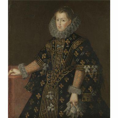THE PROPERTY OF A NOBLEWOMAN Juan Pantoja de la Cruz Madrid 1551 - 1608 PORTRAIT OF MARGARET OF AUSTRIA, QUEEN OF SPAIN (1584-1611)