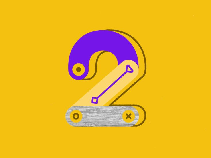 Number 2 36 Days Of Type Project 36 Days Of Type Numbers Typography Motion Graphics Design