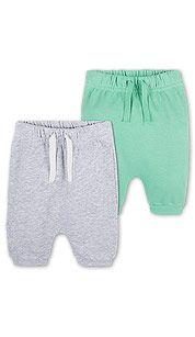 Duopack baby-joggingbroeken in licht grijs-mix