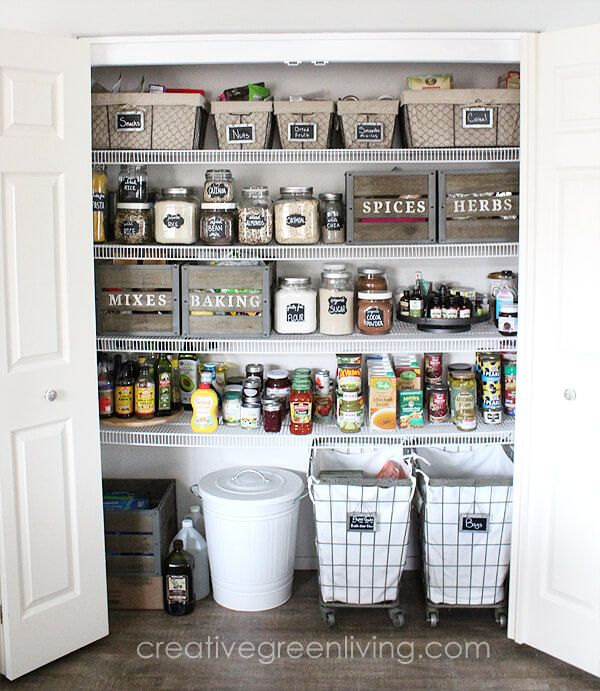 29 Praktische Pantry-Organisation Ideen, mit denen Sie viel Platz sparen