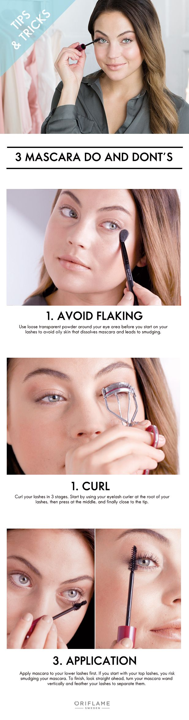 3 Mascara do's and don'ts! #oriflame #mascara #tips