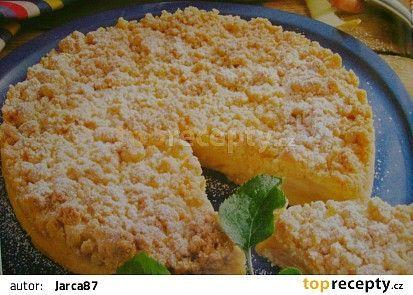 Drobenkový koláč s jablky recept - TopRecepty.cz
