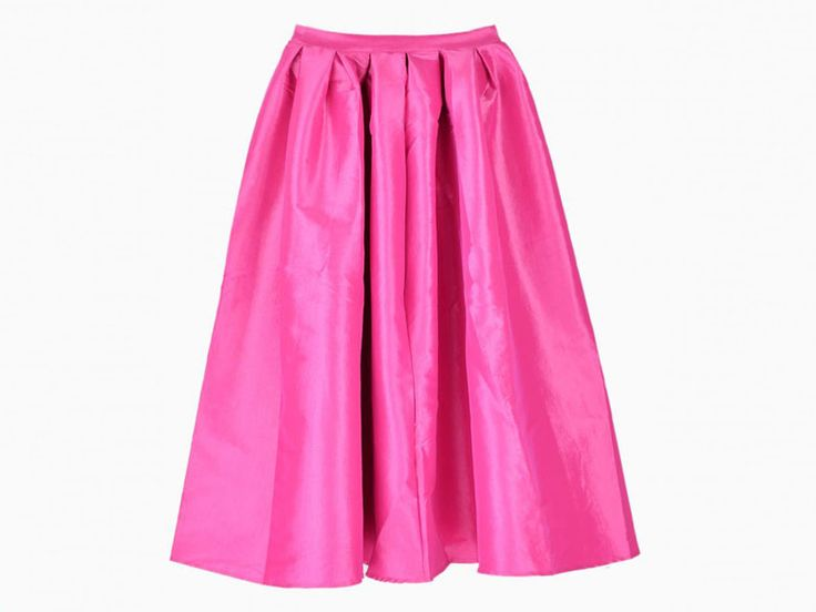Choies Pink Midi Skater Skirt | Winter and Spring Midi Skirts | Everywhere