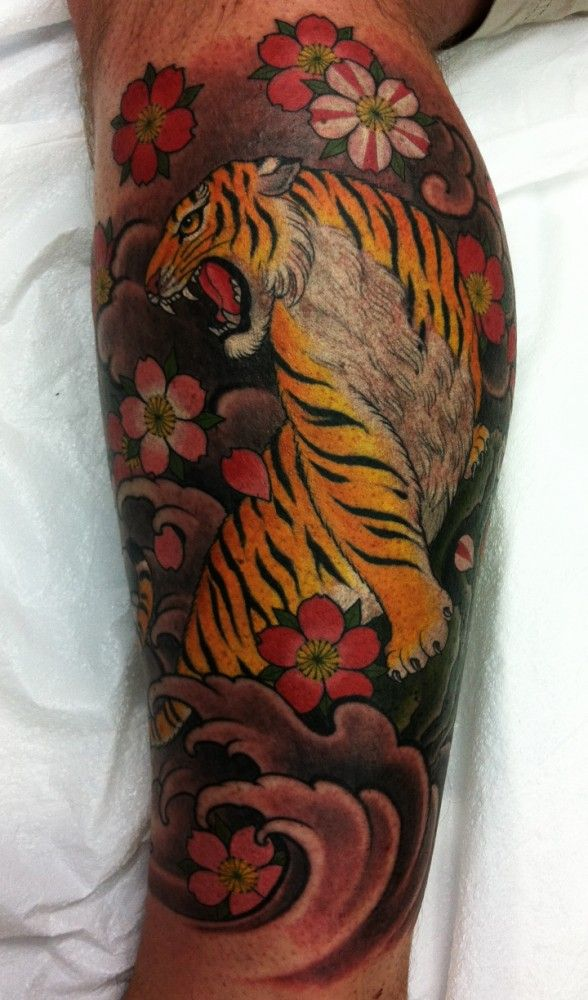 Tiger and Cherry Blossoms by Chris Garver. He is such an amazing artist!