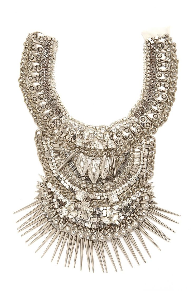 Mariam Seddiq - $350.00 (http://www.mariamseddiq.com/zanita/) MARIAM SEDDIQ layered statement necklace stacklace  handbeaded embellished couture