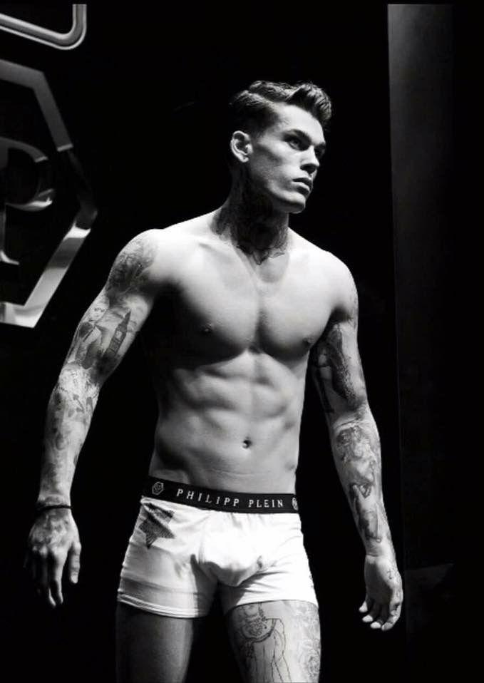 Model Stephen James for Philipp Plein