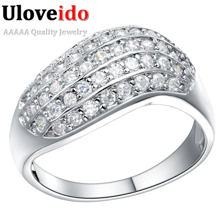 Find More Rings Information about Silver Plated Ring Bijoux Women Aneis Para As Mulheres Rings for Women Anillos De Boda Kristallen Sieraden 2016 Uloveido J255,High Quality ring train,China ring color Suppliers, Cheap ring record from Ulovestore Fashion Jewelry on Aliexpress.com