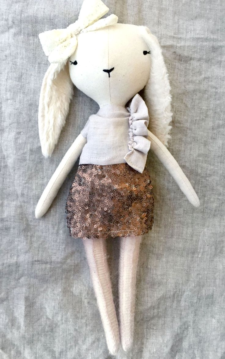 Beautiful Handmade Bunny Doll by lespetitesmainsS on Etsy