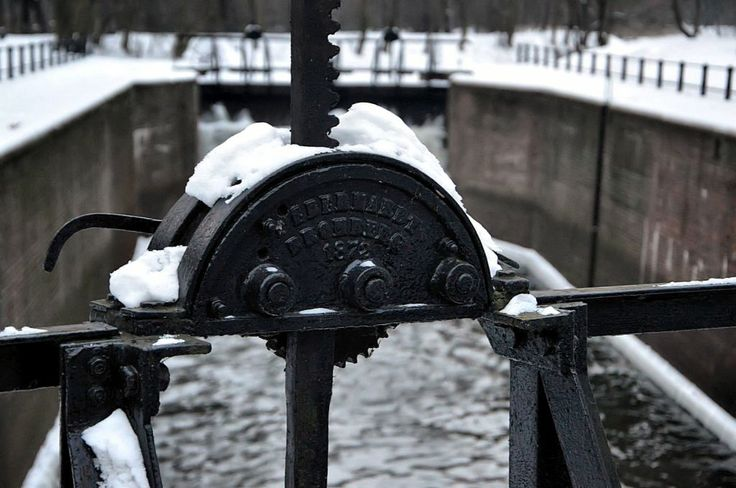 Bydgoszcz Old Canal in Winter, Water Lock from 19th century