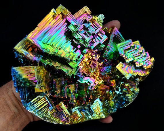 oh my god i'm gonna trip just looking at this. crystallized bismuth...it would make an awesome little desk ornament, except one this size is like $2000