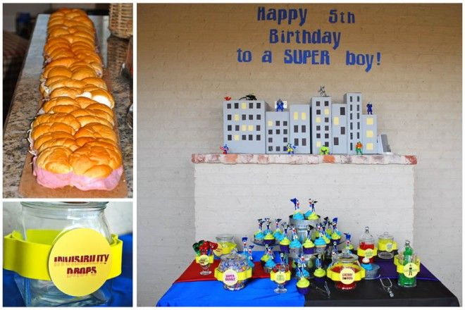 Super Hero Food and Table