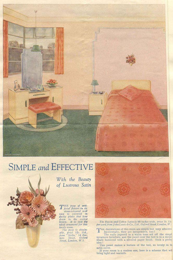 1930s bedroom | Home Decor & Cooking 30's | Pinterest ...
