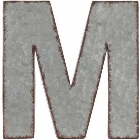 Urban Trends Collection: Zinc Alphabet Decor, Galvanized Finish, Gray