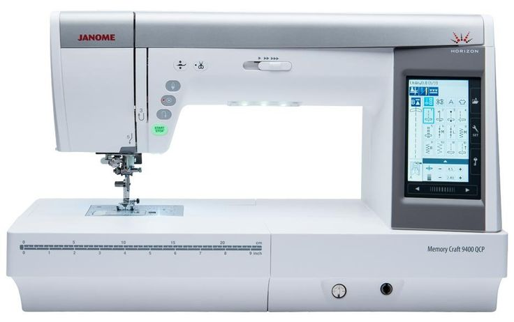 JANOME MC 9400QCP We are sewing machine professionals, not just another internet retailer. Please call 1-800-300-4739 about current promotions, interest free financing, and our low price promise on this model and all machines we sell.