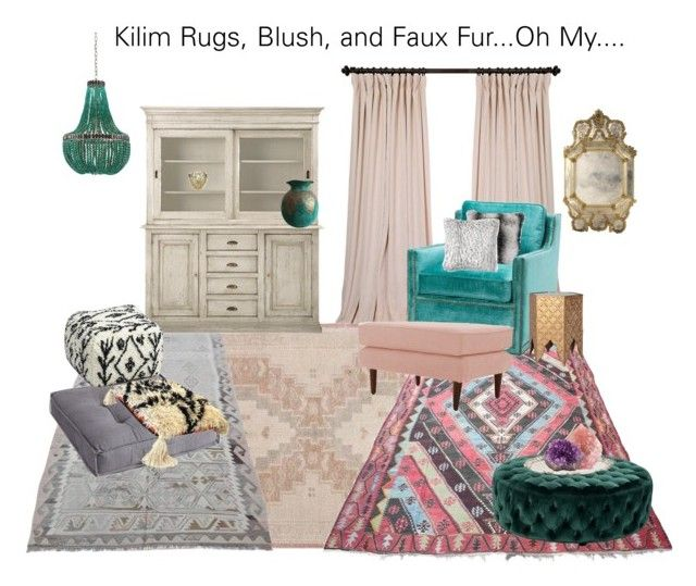 Kilim Rugs, Blush, and Faux Fur...Oh My.... Decor ideas for Spring 2018.