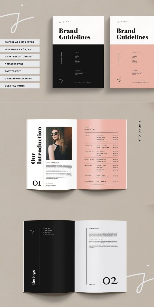 40 Brand Guidelines Templates For Adobe Indesign Brand Guidelines Brand Guidelines Template Guideline Template
