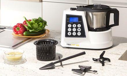 Impastare, mescolare, tritare e cuocere sono solo alcune delle 12 funzioni del robot da cucina Newchef Mix, una rivoluzione in cucina