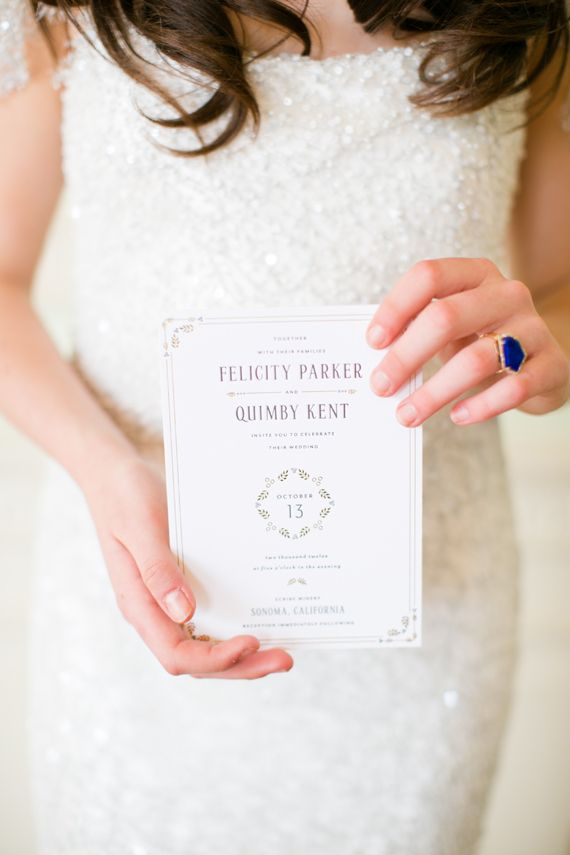 Mae Mae Paperie wedding invitation