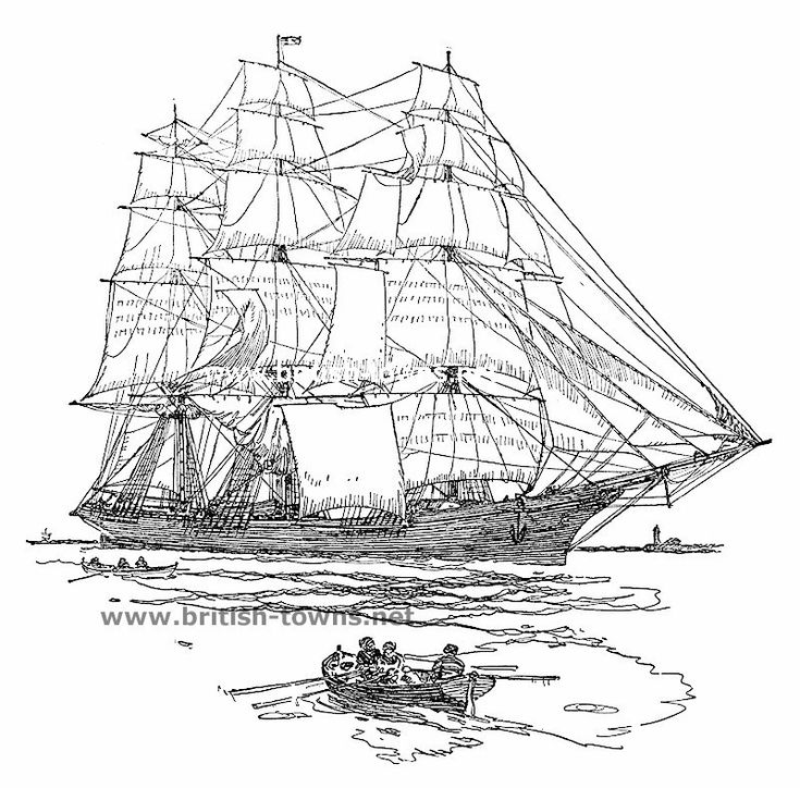 british sailing warship coloring pages - photo#45