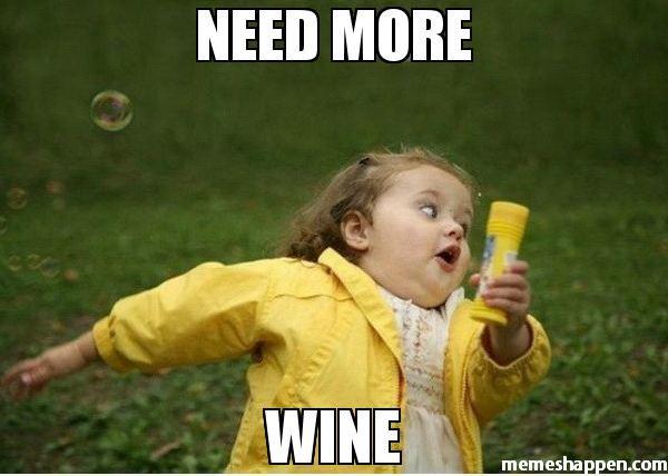 need more wine meme - Chubby Bubbles Girl