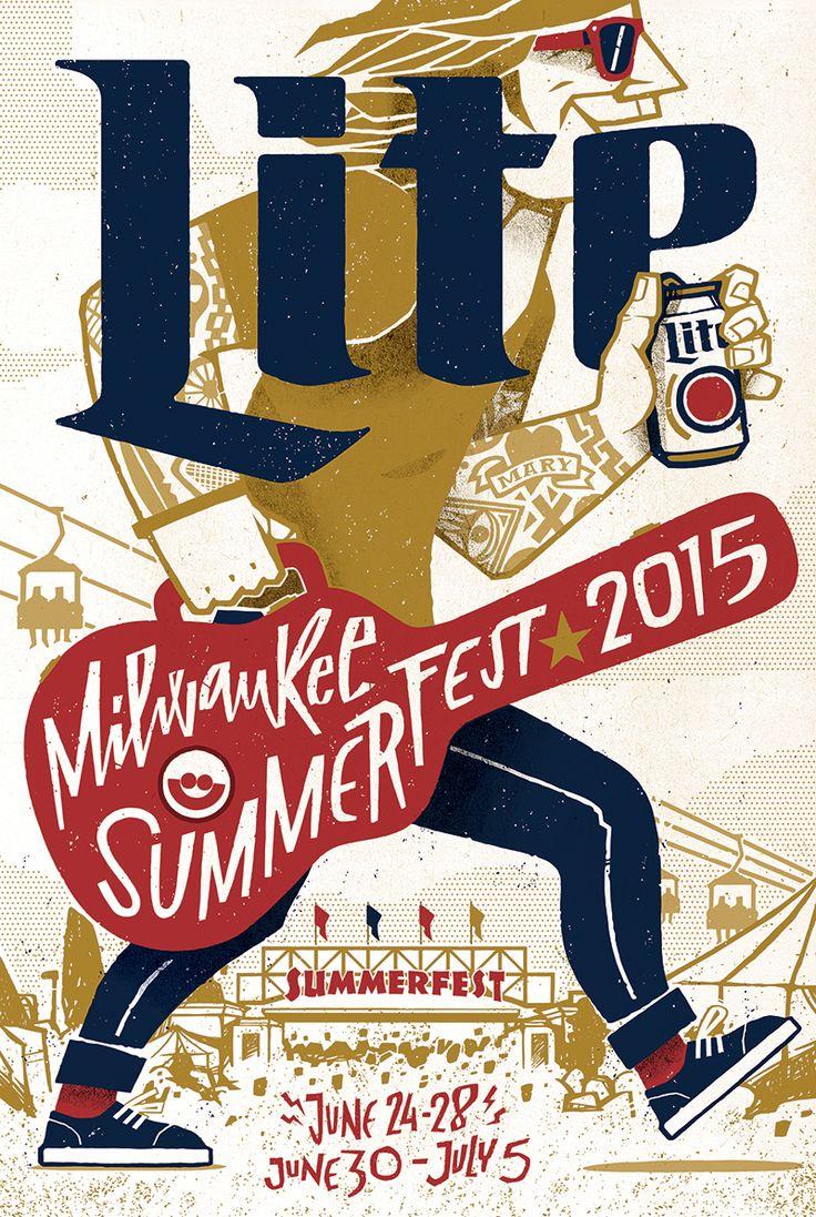 Miller Lite Summerfest Milwaukee 2015 on Behance by Jorge Lawerta