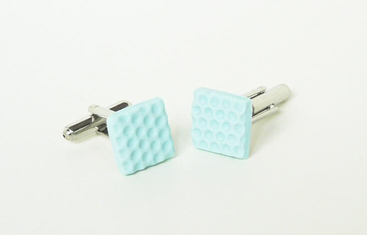 FunkLinks - Blue Square Cufflinks