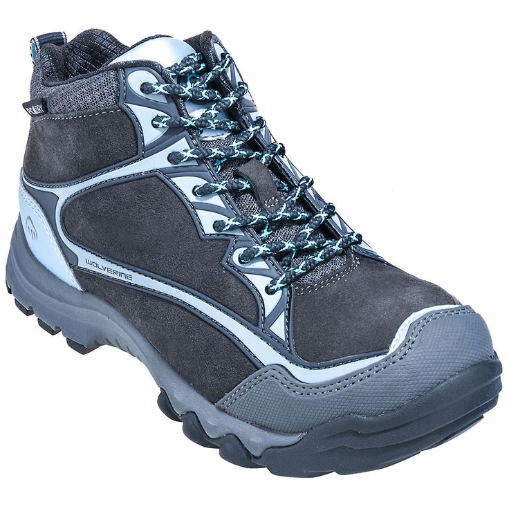 Wolverine Boots Women's Grey Fairmont Waterproof EH Steel Toe Hiking Boots 10387,    #WolverineBoots,    #10387,    #Women'sHikingBoots