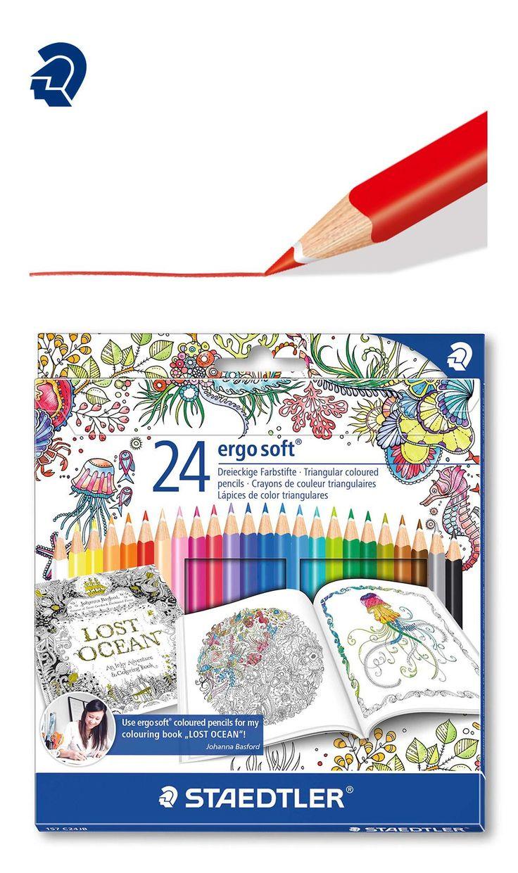 Staedtler 144 c24jb buntstifte noris club set 24 farben exklusive johanna basford edition