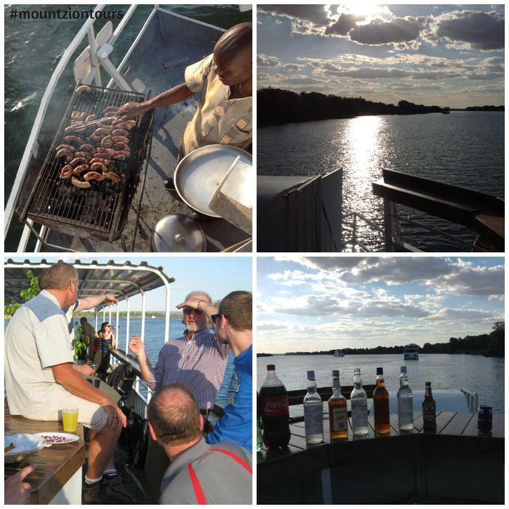 Enjoy a magnificent sunset while enjoying braai and drinks with friends on the Zambezi Sunset Cruise. Best way to enjoy with your friends.