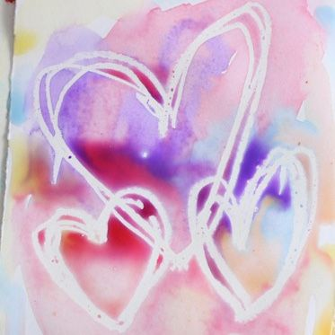 Sweet as Sugar Valentines Day Crafts - Pick of the Bunch! The Best Pinterest Crafts - Watercolour Heart Painting