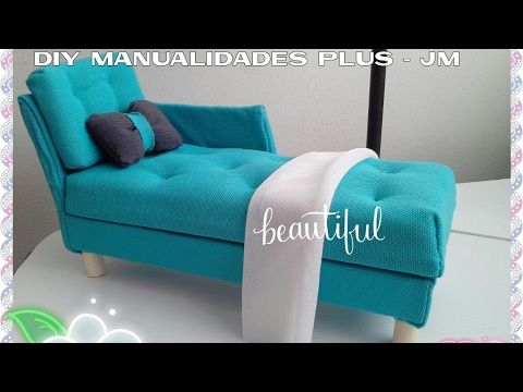 manualidades : Sofa para muñecas barbie ♥ Diy sofa for barbie dolls - YouTube