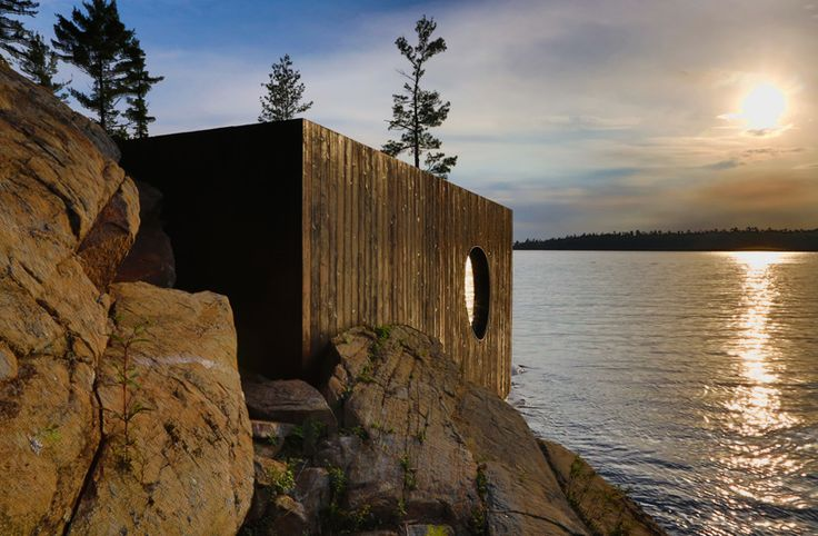 grotto sauna by partisans features bold sculptural forms